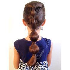 Inspired by Sammy @peinadossweet #bubblepony #bubblehairstyle .... Just 5 away to 4k #instatrancas #instahair #brunette #braidphotos #braidposting #braidinspiration #hairpics #hairpost