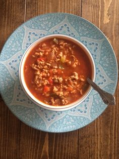 Easy Weeknight Meal: Stuffed Bell Pepper Soup (gluten-free, dairy-free)