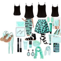 blue/green and black by alexalivar on Polyvore featuring polyvore fashion style Tommy Hilfiger Topshop Giuseppe Zanotti SPURR Tiffany & Co. Platadepalo Kendra Scott Kate Spade Hinge J.Crew Bumble and bumble C.O. Bigelow Marc Jacobs Torrid