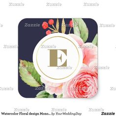 Watercolor Floral design Monogram Wedding Stickers Watercolor Floral Painting design Wedding Stickers with Custom Monogram. Matching Wedding Invitations, Bridal Shower Invitations, Save the Date Cards, Wedding Postage Stamps, Bridesmaid To Be Request Cards, Thank You Cards and other Wedding Stationery and Wedding Gift Products available in the Floral Design Category of our Store.