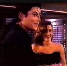 Michael Jackson and Lisa Marie Presley during their wedding