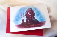 """Christmas is coming"" Game of Thrones Christmas card, hah #gameofthrones"