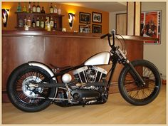 """138 CYCLE FABRICATION """"American Nightmare""""  Perfect frame geometry for a sportster bobber."""
