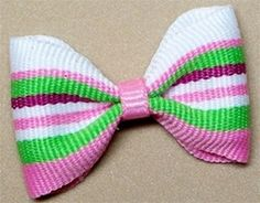 Pink and Green Designer Barrette