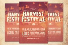 Harvest Festival Church Flyer Template can be used for your Church Harvest, Fall and Thanksgiving Events, etc, or for any other marketing projects. The file includes 2 High Resolution Flyers with several color options for easy editing. The file is print ready, just change the text, choose a color option, save and send to print. Add this template to your design tool box today.