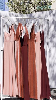 Shop Wedding Dresses, Bridesmaids, Bridal Gowns, Robes, and Formal Guests Summer Wedding, Dream Wedding, Winter Wedding Bridesmaids, Spaghetti Strap Dresses, Party Fashion, Wedding Dresses, Velvet Bridesmaid Dresses, Vintage Style Bridesmaid Dresses, Burnt Orange Bridesmaid Dresses