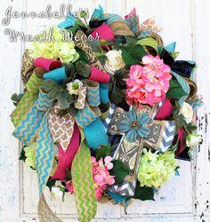 LUX Summer Wreath Spring Wreath Hydrangeas by JennaBelles on Etsy