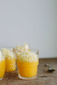 Orange jelly w/ golden kiwifruit granita {gluten-free + vegan} | My Darling Lemon Thyme