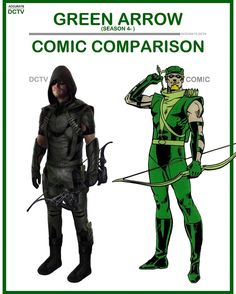 """54 Likes, 2 Comments - • Accurate.DCTV • dctv fanpage (@accurate.dctv) on Instagram: """"• Green Arrow (Season 4- ) - Comic Comparison • The Season 5 costume is my favorite version of the…"""""""