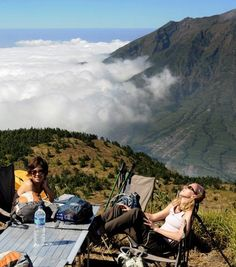 Relaxing at on top of Mt. Merapi - Special District of Yogyakarta, Indonesia