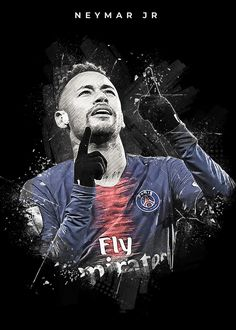 "Beautiful ""Neymar"" metal poster created by Creativedy Stuff. Our Displate metal prints will make your walls awesome. Neymar Football, Football Boys, World Football, Brazilian Soccer Players, Football Players Images, Neymar Jr Wallpapers, Neymar Barcelona, Neymar Psg, Soccer Art"