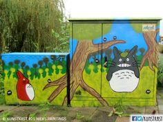 kunstkast van Nieks paintings Urban Street Art, Box Art, Holland, Van, Paintings, Dutch Netherlands, Paint, Vans, Painting Art