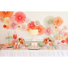 Fan floral backdrop