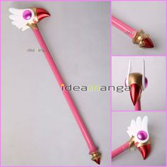 Costume Props Anime Cardcaptor Sakura Card Captor Sakura Birdhead Star Magic Stick Wand Staves Cosplay Accessorie Porp Numerous In Variety
