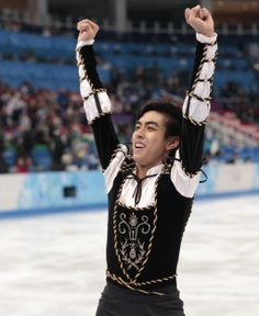 Michael Christian Martinez of the Philippines gestures as he leaves the ice after the men's short program figure skating competition at the . Winter Games, Figure Skating, The Man, Olympics, Philippines, Skate, Competition, Fangirl, Leaves