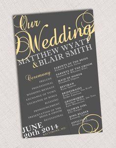 Wedding Program by HummingbirdShops on Etsy, $20.00