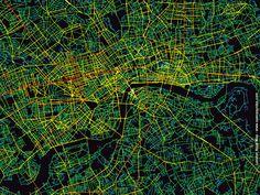 London axial map - spacesyntax