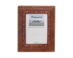 """$48  A 5""""x7"""" leather picture frame embossed with oak leaf and acorns. We make these sturdy using high quality materials and we put a Plexiglas and an easel back in it for you. Perfect for a high quality gift for that special someone!"""