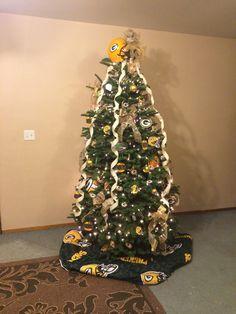Greenbay packer Christmas tree