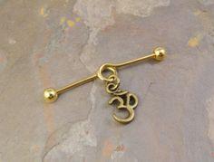 gold om industrial barbell