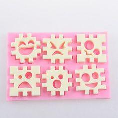 HJLHYL Jigsaw Puzzle Fondant Cake Chocolate Silicone Molds,Decoration Tools Bakeware
