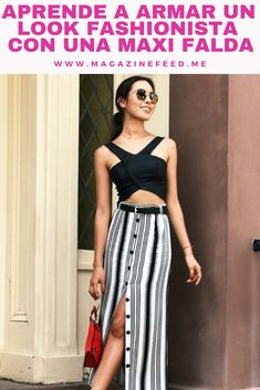 Recuerda que las rayas verticales te harán lucir mucho más delgada. Fashion Sewing, Striped Pants, Sewing Patterns, Hacks, Outfits, Retro, Clothes, Beautiful Clothes, Striped Skirts