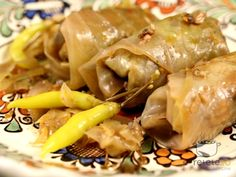 My Grandmother made the best Stuffed Cabbage Rolls, also known as Krautnagels. Wrap Recipes, Dinner Recipes, Dinner Ideas, Yummy Wraps, Cabbage Rolls Recipe, Good Food, Yummy Food, Recipe Finder, Romanian Food
