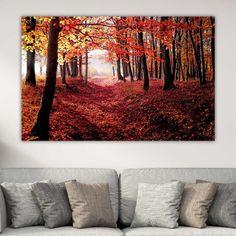 Κόκκινο Φθινοπωρινό Δάσος πίνακας σε καμβά Tapestry, Painting, Home Decor, Art, Hanging Tapestry, Art Background, Tapestries, Decoration Home, Room Decor
