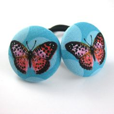 Butterfly Ponytail Holders  BIG Fabric Covered by MelissaAbram, $6.00