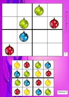 Sudoku Puzzles, Printable Puzzles, Printables, Card Games For Kids, Theme Noel, Brain Games, Fun Cup, Christmas Tree, Education