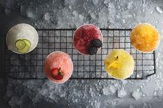 When it snows, make delicious snow cone cocktails! #recipe