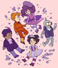 "Cute #Futurama's ""Purpleberry Pond"" art, a parody of #StrawberryShortcake (via nekoelibetty)"