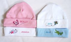 Baby Hat 0-3 months only Personalised by PreciousDesignsStore