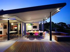 Outdoor Dining Space Glenmore Road Skyhouse | Home Architectural Design