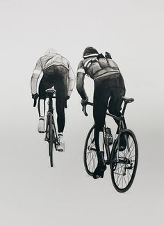 thestumpone: My afternoon painting. Rapha rides Norway