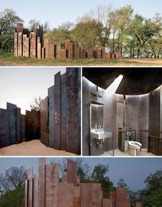 Amazing Public Toilets Trail Restroom at Lady Bird Lake in Austin, Texas. Wc Public, Toilette Design, Outdoor Toilet, Urban Furniture, Furniture Online, Metal Furniture, Cheap Furniture, Furniture Plans, Restroom Design
