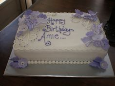 lilac flower & butterfly cake | lilac flower & butterfly cak… | Flickr Gothic Birthday Cakes, 65 Birthday Cake, Butterfly Birthday Cakes, Birthday Sheet Cakes, Adult Birthday Cakes, Birthday Cakes For Women, Purple Butterfly Cake, Butterfly Cakes, Purple Flowers
