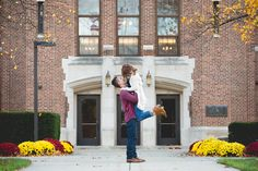 Laurenda Marie Photography | Couples | Engaged | Fall | Campus | Fall Color | Lifestyle photography | couples pose | natural | CMU