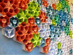 Anthropologie window displays visual merchandising: colored envelopes