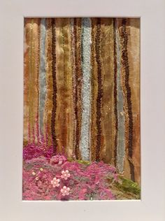 Klimt inspired forest.   #freemachineembroidery #cutback #solublefabric #appliqué