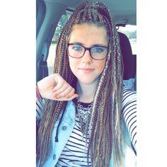 Box braids on a white girl #boxbraids #braids #whitegirl #hair