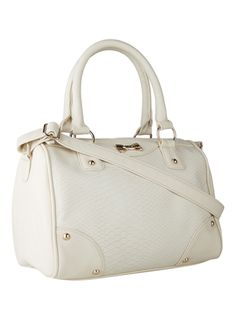 Cream Snake Bow Bowler - £16.99  #fbloggers #baglove #internacionale #fashion #style #ootd Fashion Bags, Rebecca Minkoff, Snake, Ootd, Cream, Creme Caramel, Fashion Handbags, Snakes, Lotion