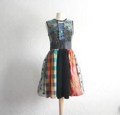 Vintage Style Women's Retro Dress Teal by BrokenGhostClothing, $124.00