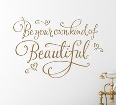 Beauty And The Beast Be Your Own Kind Of Beautiful Playroom Art