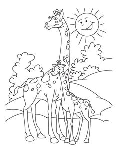 giraffe coloring page 1838