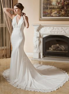 Sale Alert: Free Shipping! Up to 55% OFF on Weekly Deal! Only $179.99! Trumpet/Mermaid Halter Chapel Train Chiffon Wedding Dress With Ruffle Lace Beading (002000043) http://www.dressdepot.com/Trumpet-Mermaid-Halter-Chapel-Train-Chiffon-Wedding-Dress-With-Ruffle-Lace-Beading-002000043-g43 Wedding Dress Wedding Dresses #WeddingDress #WeddingDresses