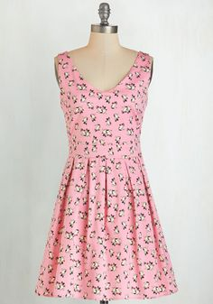Bookmaking Brunch Dress in Dogs. Theres little you love more than crafting and cooking, so set up brunch for your friends in this pink dress! #pink #modcloth