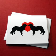 Border Collie Love - Valentine's Day Cards by doggydesign