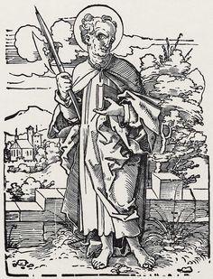 Beham, Hans Sebald: »Die Zwölf Apostel und Christus als Salvator mundi«, Hl. Matthäus c.1530