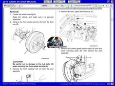 HYUNDAI SANTA FE 2007-2012 MANUAL DE TALLER Y REPARACION Thing 1, Wheels And Tires, The Struts, How To Remove, Santa Fe, Saints, Atelier